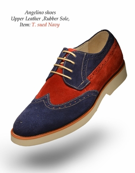 Angelino T Suede Navy Shoes (Special Order)