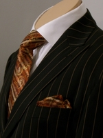 Angelino Taupe Pinstripe Suit fits 46R