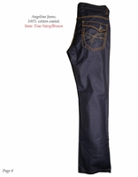 Angelino Tino Navy/Brown Jeans W40