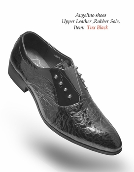 Angelino Tux Black  Shoes (Special Order)
