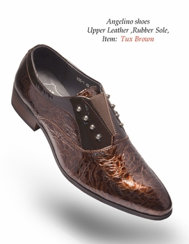 Angelino Tux Brown Shoes (Special Order)