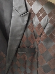 Angelino Umberto Brown Blazer w/Black lapels