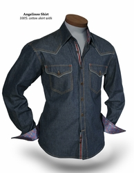 Angelino Venice Brown Denim Shirt