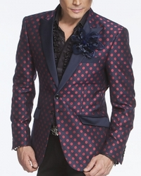 Angelino W. Dot Navy Red Blazer -Special order