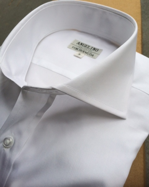 Angelino White Cutaway Collar Dress Shirt