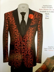 Angelino Woven Vic. Rust Blazer(Special Order)