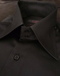 Axxess Black 2 Button Collar Shirt