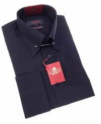 Axxess Black Tie Pin Dress Shirt