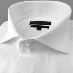 Axxess White Spread High Collar Shirt