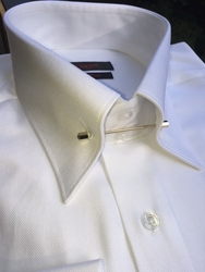 Axxess White Tie Pin Dress Shirt
