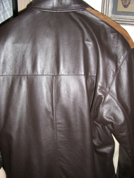 (Back view)Missani Leather/Suede  Jacket size XL (fits 44 - 46)