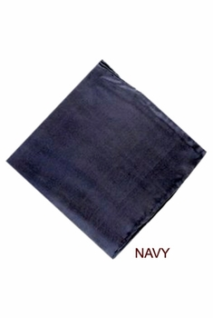 Backordered --MorCouture Navy 17 x 17 Silk Pocket Hanky