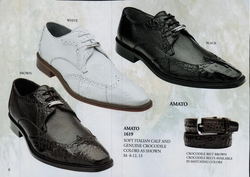 Belvedere Amato Crocodile and Calfskin Shoes