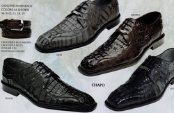 Belvedere Chapo Caiman Crocodile Shoes