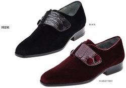 Belvedere Fede Velvet and Crocodile Shoes