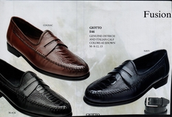 Belvedere Giotto Ostrich and Calfskin Shoes