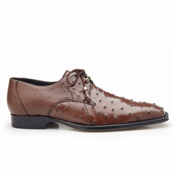 Belvedere Isola Ostrich Quill Dress Shoes Brown