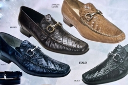 Belvedere Italo Crocodile and Lizard Shoes
