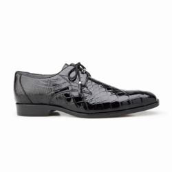 Belvedere Lago Alligator Dress Shoes Black