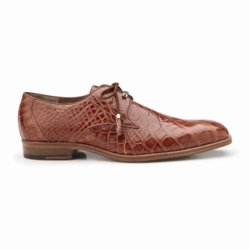Belvedere Lago Alligator Dress Shoes Cognac