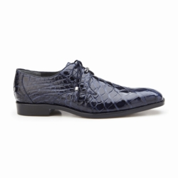 Belvedere Lago Alligator Dress Shoes Navy