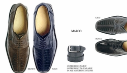 Belvedere Marco Ostrich Shoes