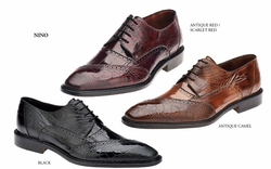 Belvedere Nino Eel and Ostrich Shoes