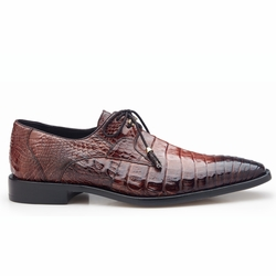 Belvedere Rome Crocodile Shoes Antique Almond