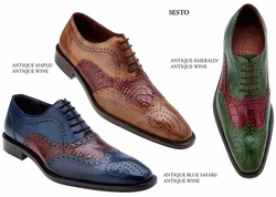 Belvedere Sesto  Alligator and Calfskin Shoes