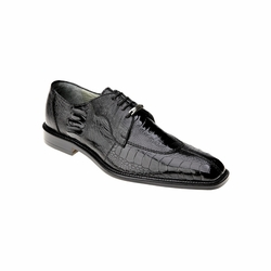 Belvedere Siena Ostrich Lace Up Shoes Black