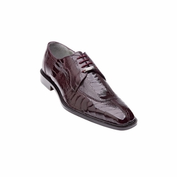 Belvedere Siena Ostrich Lace Up Shoes Burgundy