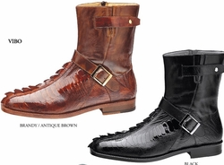 Belvedere Vibo Ostrich and Crocodie Boots