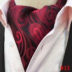 Black 2 Red Fuschia Paisley Ascot