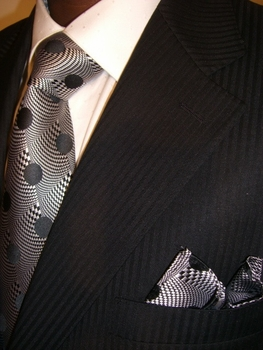 Black Shadow Stripe Suit pic#2 (click again for closer image)