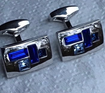 Blue Pieces Cufflnks