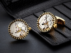 Brass Gears Cufflinks