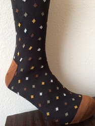Brown Diamond Pattern Socks