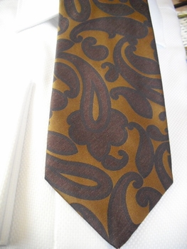Brown Paisley on Taupe