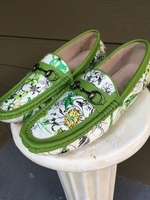 Floral Lime Trim Driving Loafers size 10.5