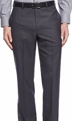 Charcoal Modern Fit Flat Front Pants