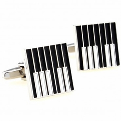Black Piano Cufflinks