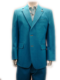 CREME DE SILK DENIM SUIT -(Aqua)