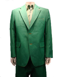 CREME DE SILK Denim Suit -(Green)