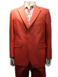 CREME DE SILK Denim Suit -(Red)