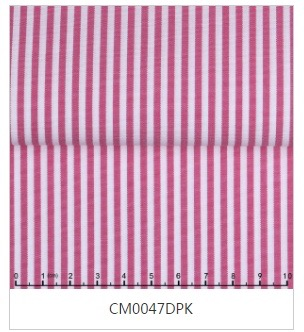 Dark Pink Striped Tab Collar Shirt -Custom order