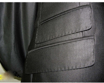 Designer 1 Button Grey Suit (close up view)