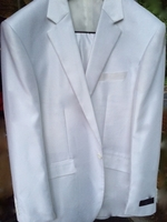Designer White Sheen Suit size 46L