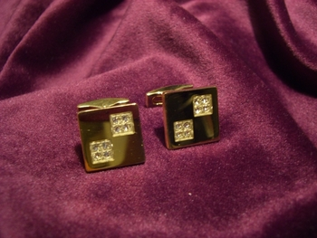 Gold plated with crystal stones