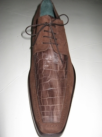 Sold Out ---Dino Bigioni Brown Deerskin Shoe size 13 - 13.5