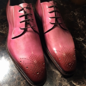 Emilio Franco Rose Oxford Lace Up Shoes